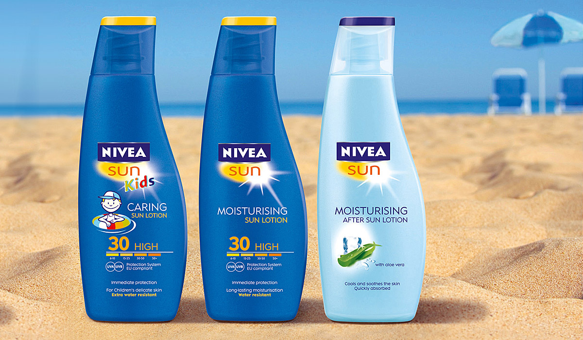Nivea Sun Rebranding und Packaging Design